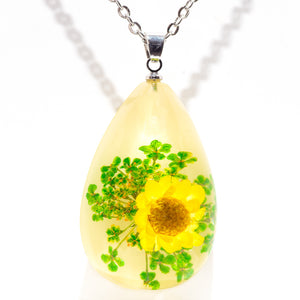 Flower Necklace Orb Bea Yellow Daisy