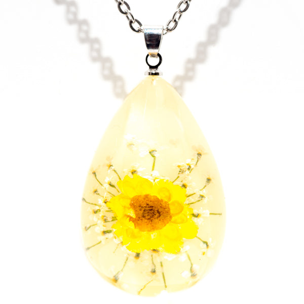 Orb Bea Necklace Yellow Daisy
