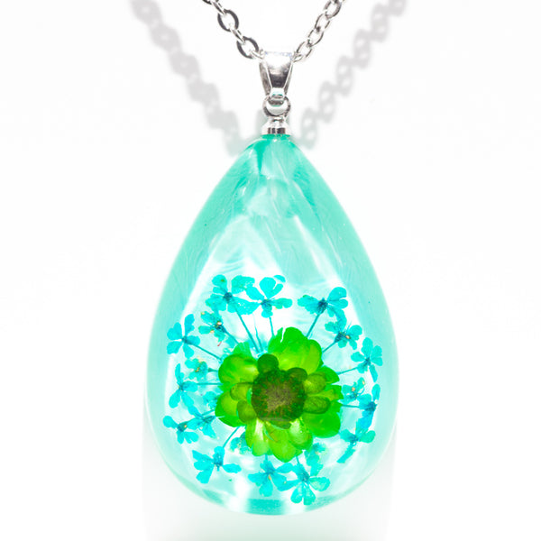 Orb Bea Necklace Green-Blue
