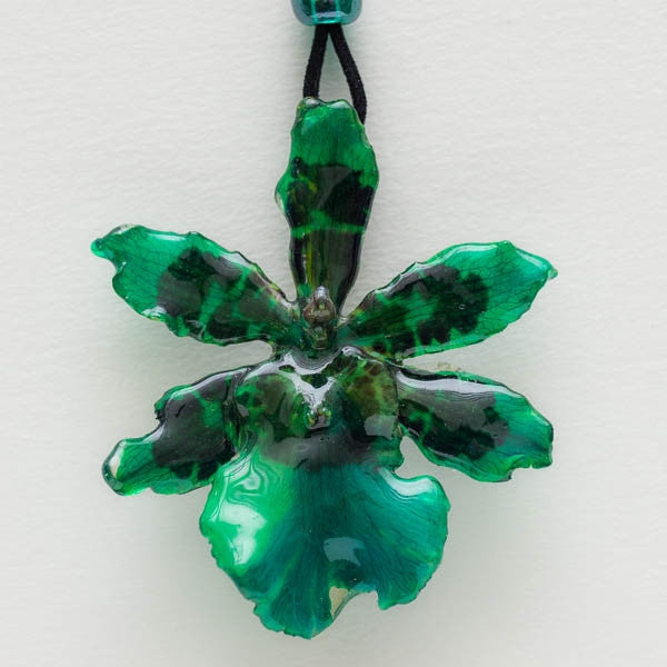 Green Tiger orchid necklace