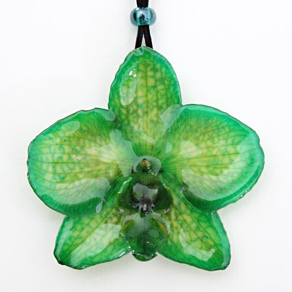 Green Phalanopsis Orchid necklace