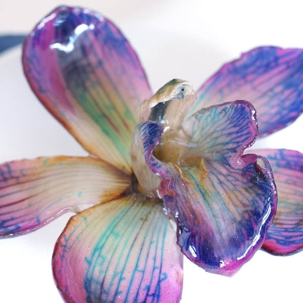 Purple Cymbidium Orchid Necklace