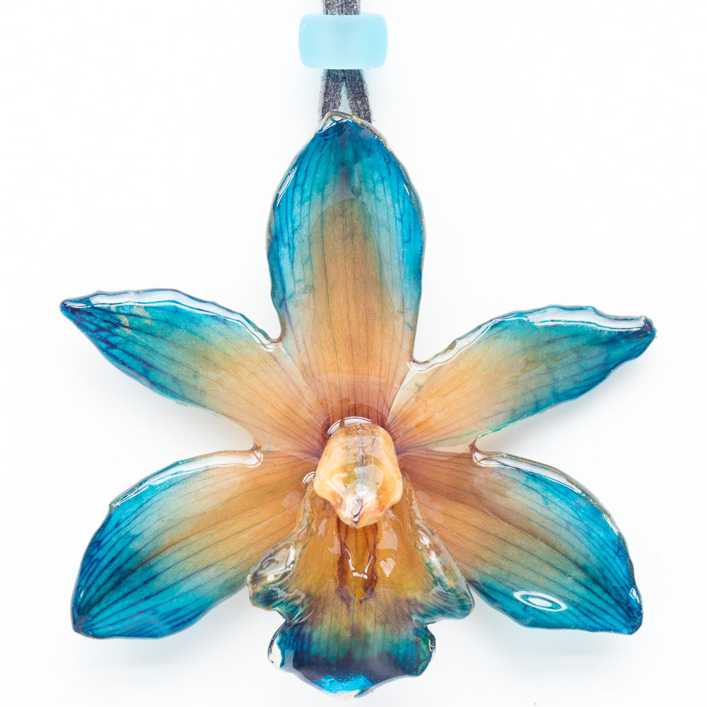 Flower Necklace Blue Cymbidium Orchid