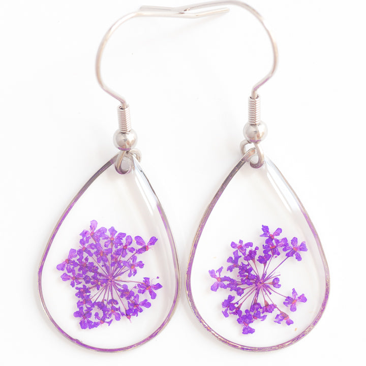 ORB CLEO EARRINGS PURPLE