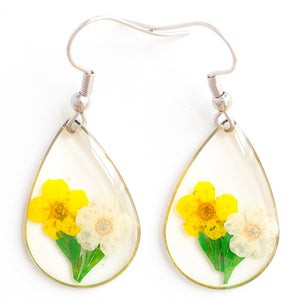 ORB CLEO EARRINGS YELLOW WHITE
