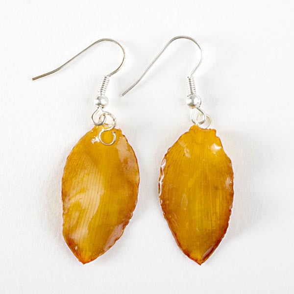 Yellow Lotus of Paradise Petal Earrings