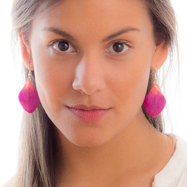 Purple-Pink Dendrobium Petal Earrings