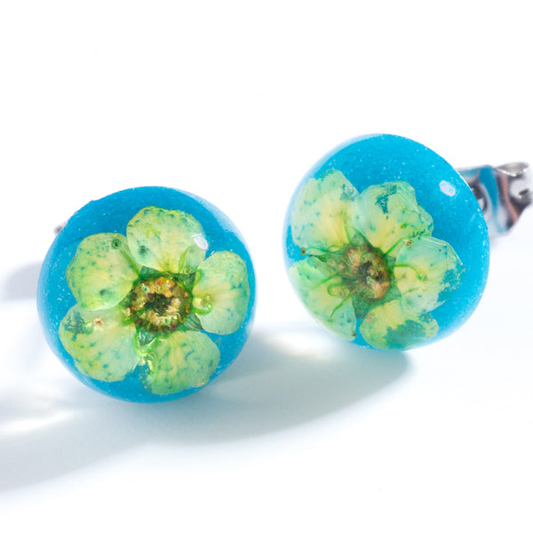 Orb Studs Green-Blue