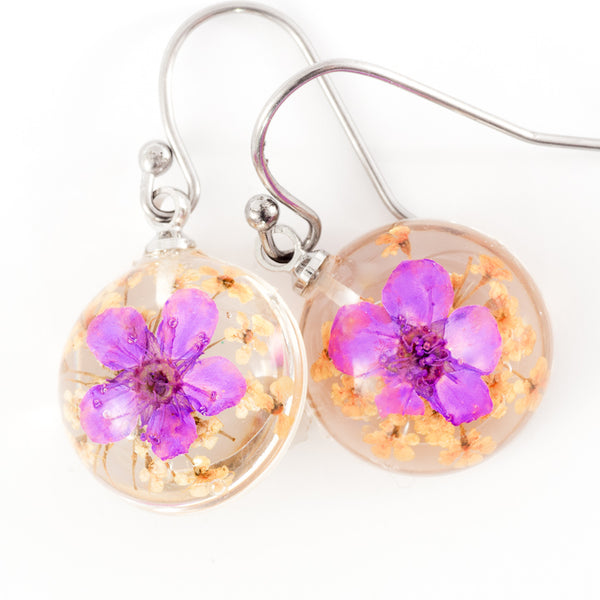 Mini Orb Earrings Purple