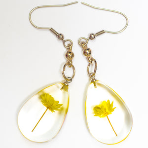 Flower Necklace Orb Bea set yellow-white