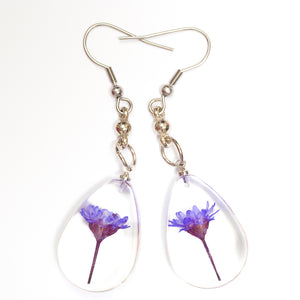 Flower Necklace Orb Bea set purple-white