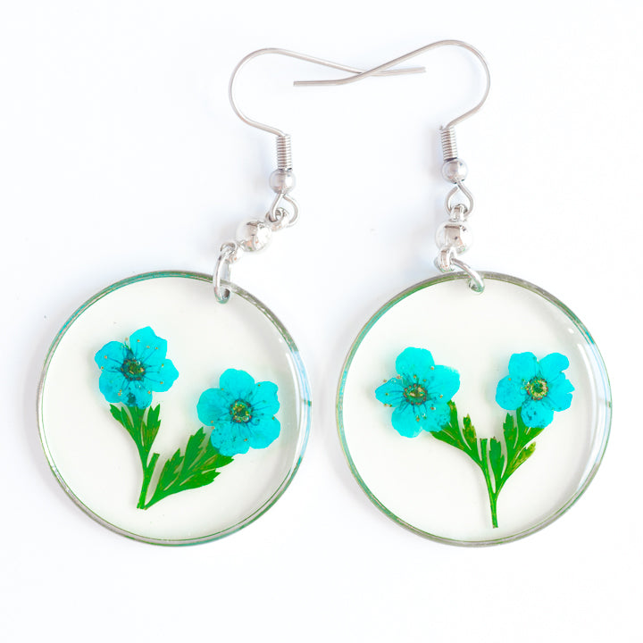 ORB FUNKY EARRINGS BLUE-GREEN