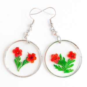 ORB FUNKY EARRINGS RED-GREEN