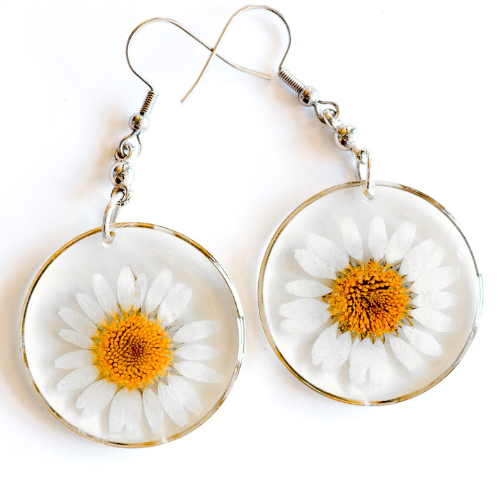 ORB FUNKY EARRINGS WHITE-YELLOW