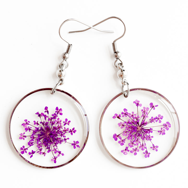 ORB FUNKY EARRINGS PURPLE