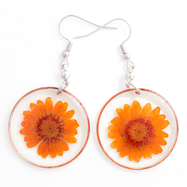 ORB FUNKY EARRINGS ORANGE