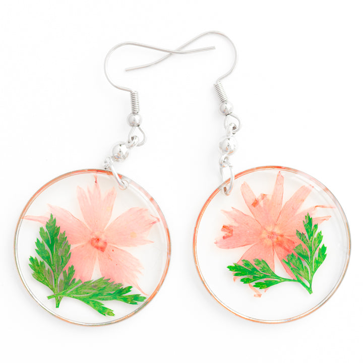 ORB FUNKY EARRINGS GREEN-PINK