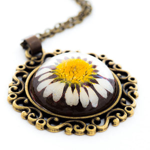 Flower Necklace Classic Orb White
