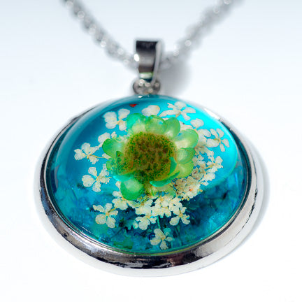 Orb Necklace Green