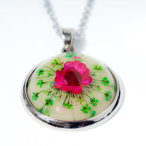 Orb Necklace Pink