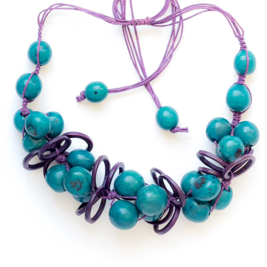 Blue Tagua Necklace