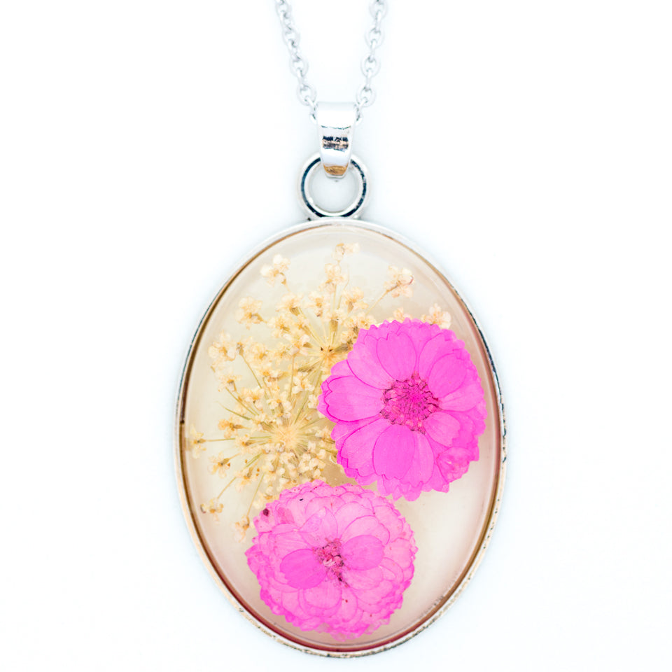 Cleo Necklace Pink