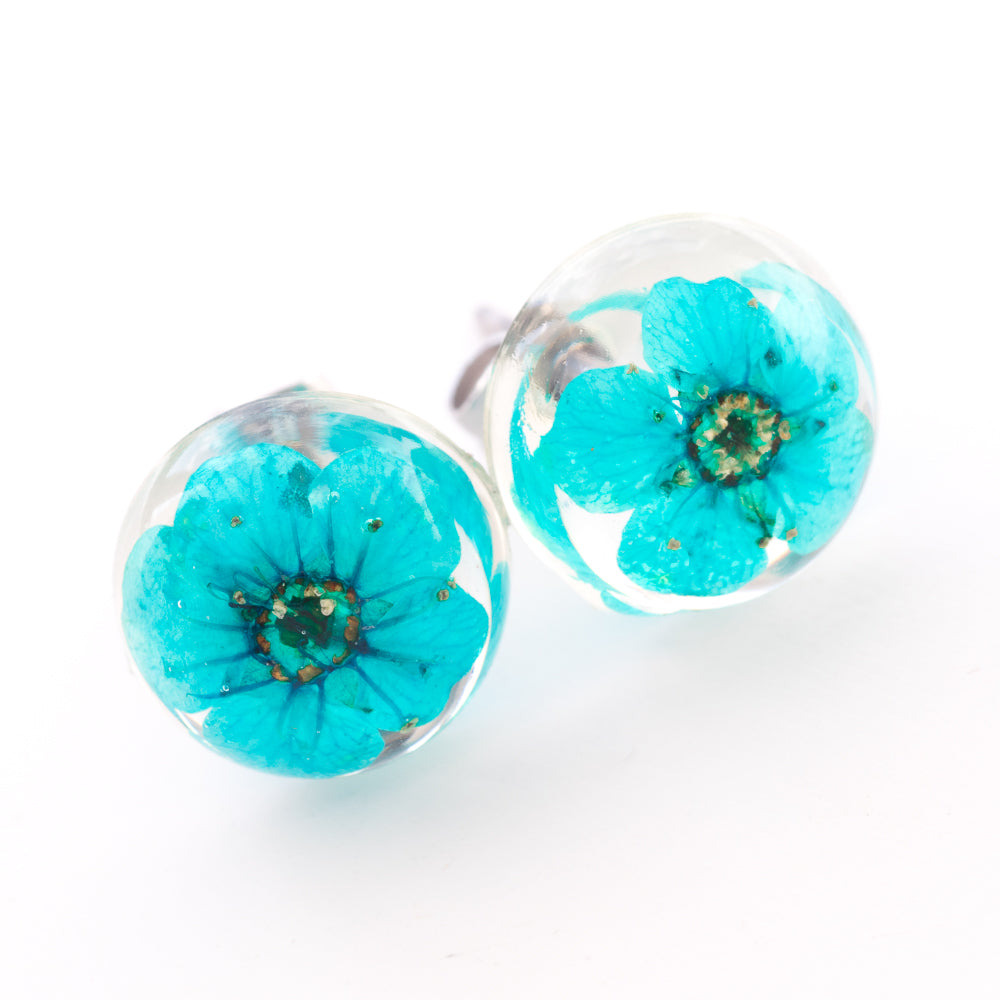 Earrings Blue Orb Stud Earrings