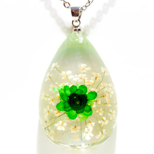 Flower Necklace Orb Bea Green