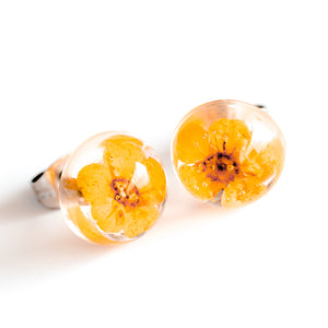 Earrings Orange Orb Stud Earrings