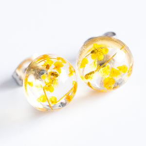 Earrings Yellow Orb Stud Earrings