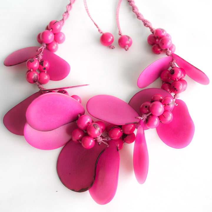 Magenta Tagua Necklace