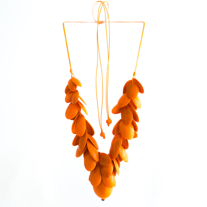 Orange Tagua Necklace
