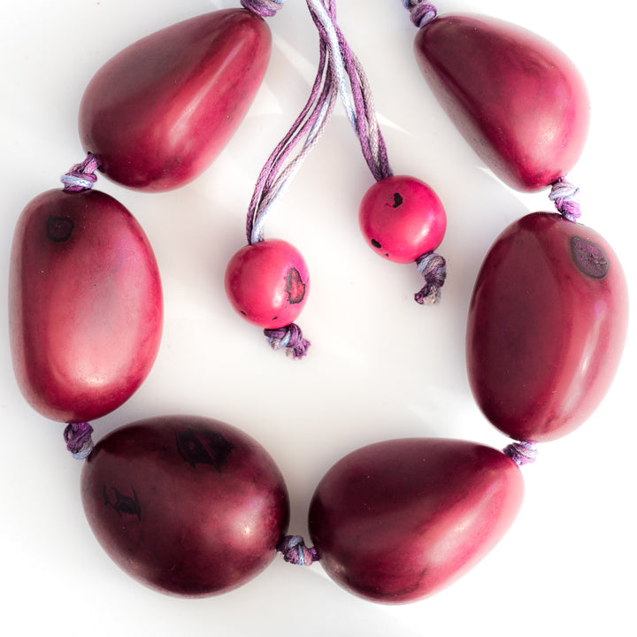 Dark Red Tagua Necklace