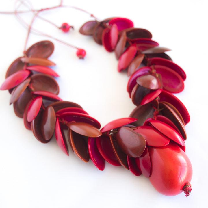 Red Tagua Necklace