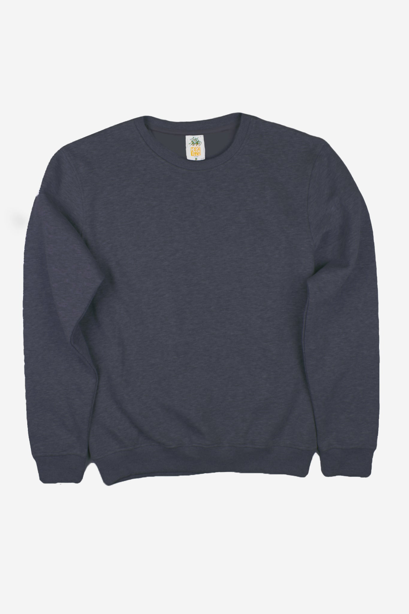 HERO-1020 Unisex Youth Blank Crewneck Sweatshirt - Dark Heather