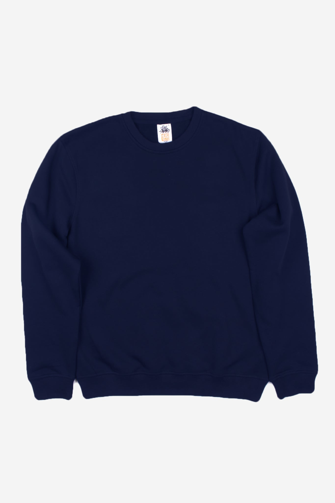 HERO-1020 Unisex Youth Blank Crewneck Sweatshirt - Navy Blue