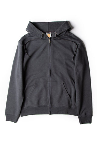 HERO-3020 Unisex Full Zip Hoodie - Dark Heather