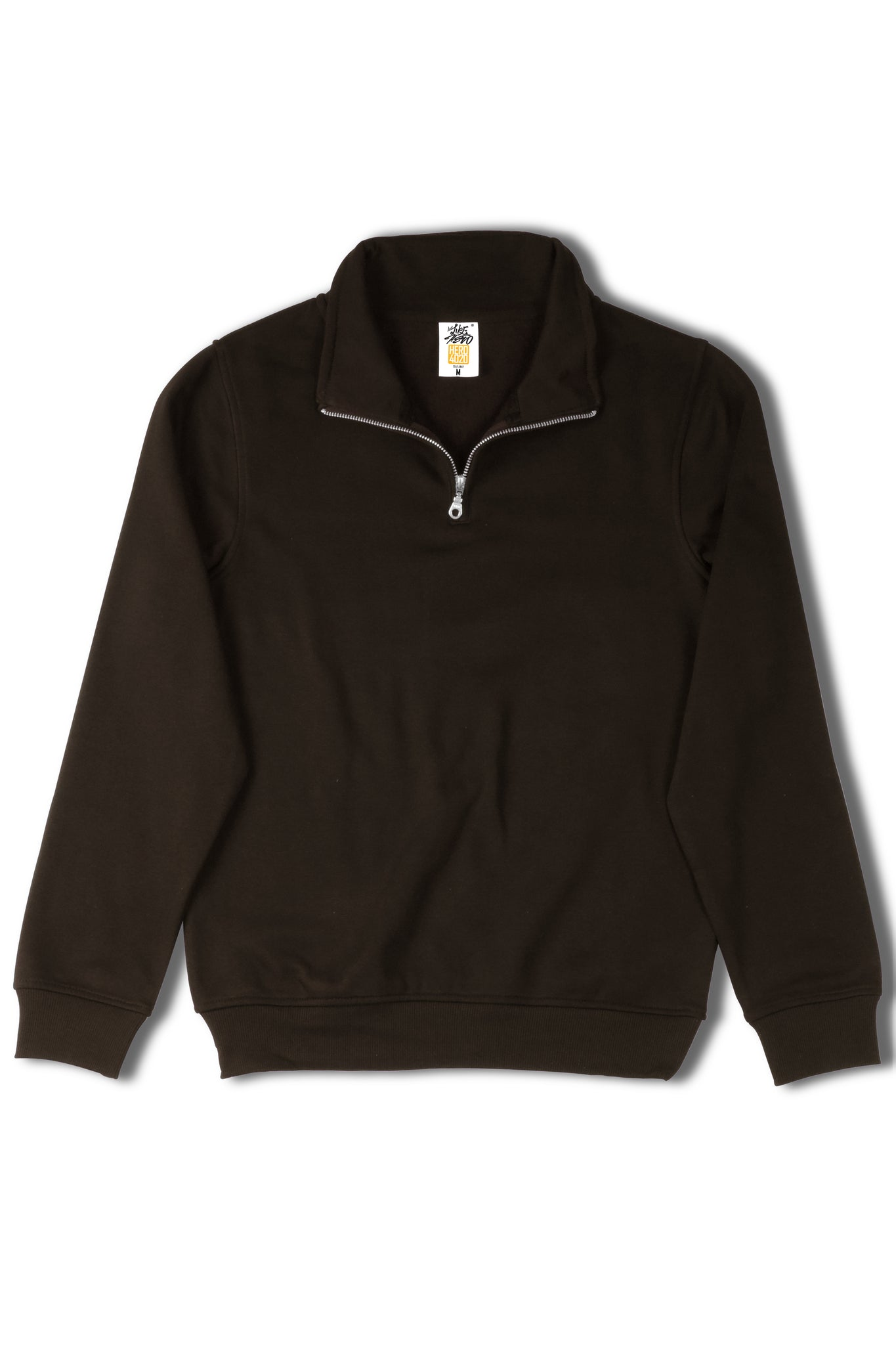 HERO-4020 Unisex Quarter Zip Sweatshirt - Black