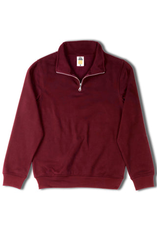 HERO-4020 Unisex Quarter Zip Sweatshirt - Maroon