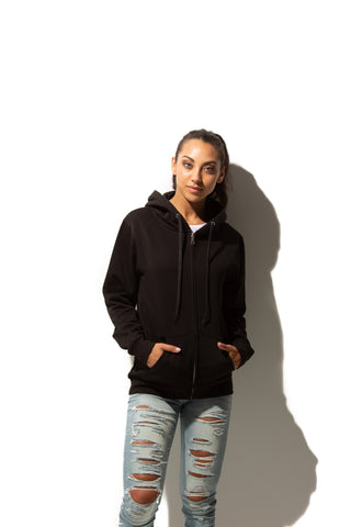 HERO-3020 Unisex Full Zip Hoodie - Black