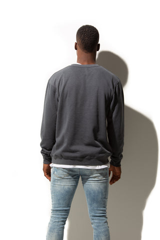 HERO-1020 Unisex Blank Crewneck Sweatshirt - Dark Heather