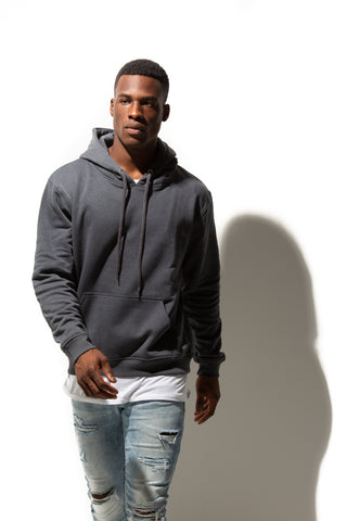 HERO-2020 Unisex Blank Hoodie - Dark Heather