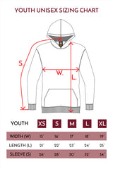 HERO-2020 Youth Hoodie - Charcoal Grey