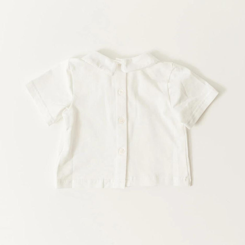 Boys Short Sleeve Undershirt With Collar
