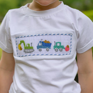 Boys Smocked Construction T-Shirt