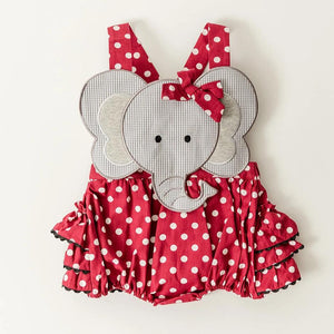 Polka Dot Elephant Ruffle Bubble