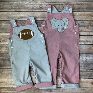 Reversible Elephant and Football Overalls