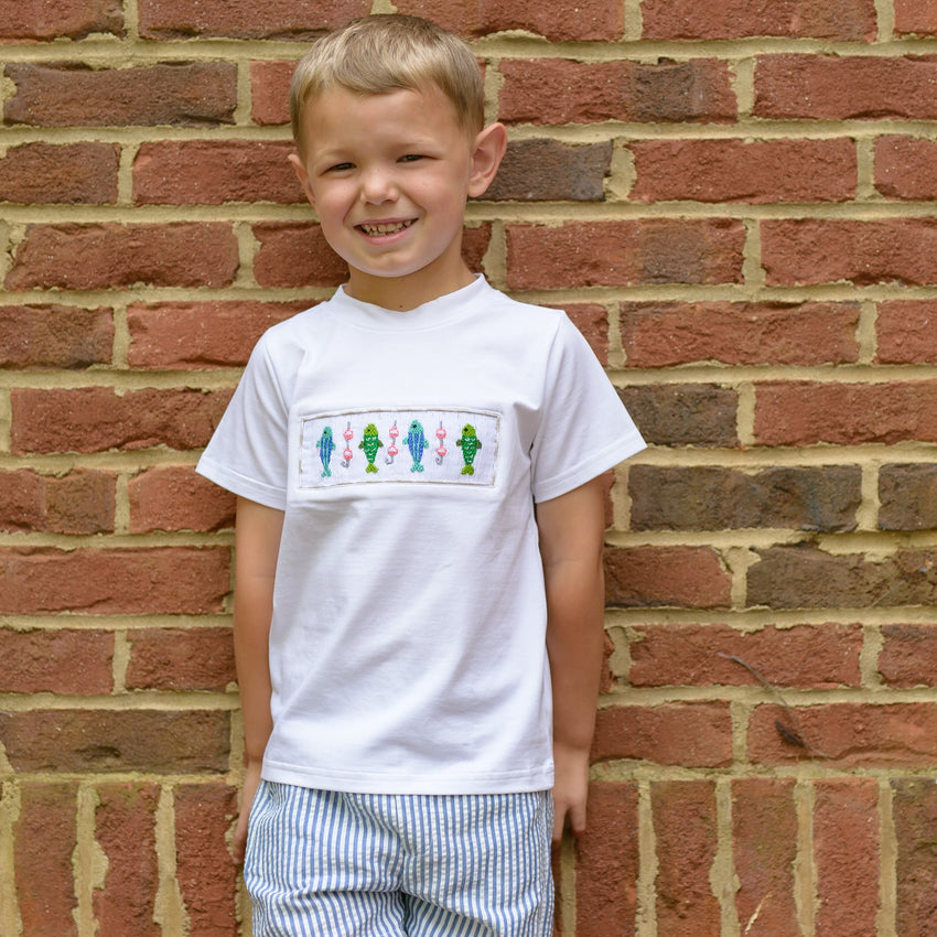 Smocked Fishing T-Shirt