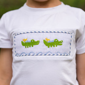Boys Smocked Alligator T-Shirt