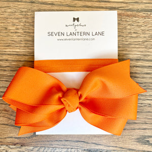 Orange Hair Bow or Headband